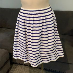 J Crew stripped skirt with elastic top